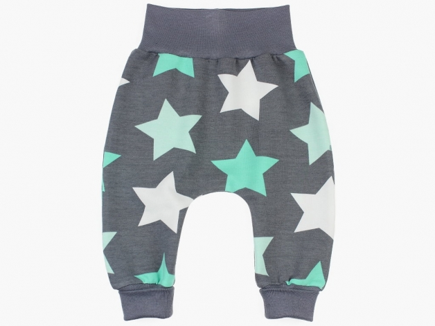 Babypants / Kinderpants MegaSTARS grau-mint